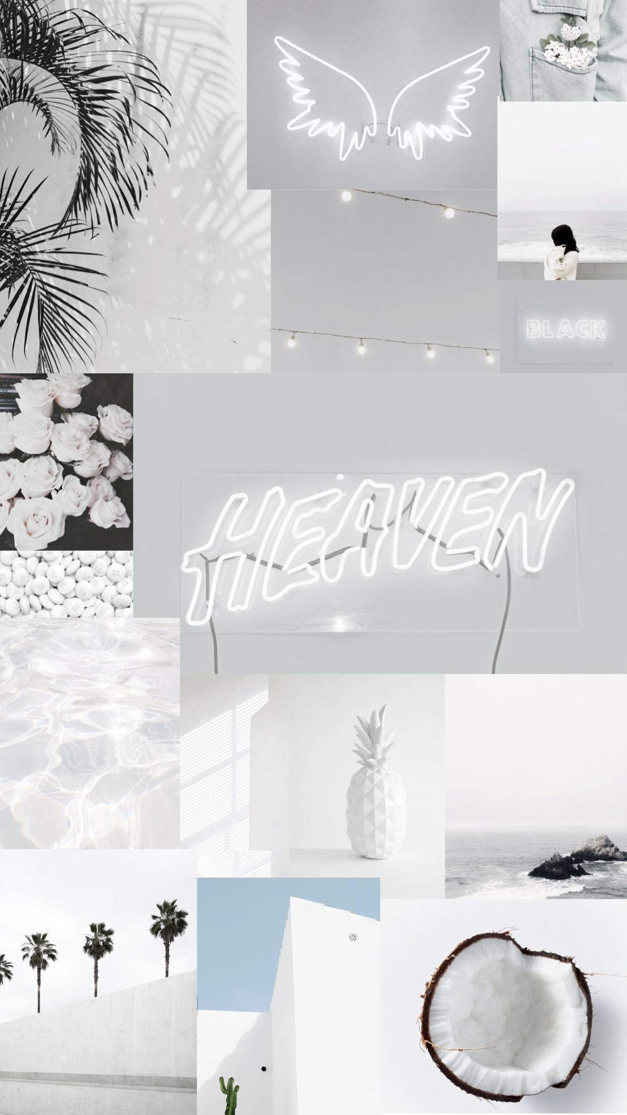 white aesthetic wallpaper