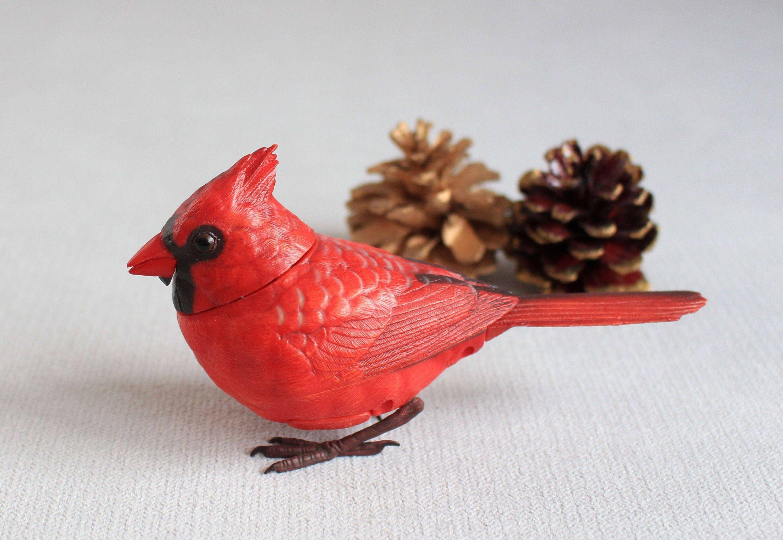Unique Red Cardinal Christmas Decorations Fresh Singing Red Cardinal Christmas ornaments Red Cardinal